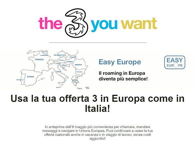 Cari clienti, da oggi all'estero avrete lo stesso piano che usate e qui in Italia!!! #easyeurope #estero #vacancyfree