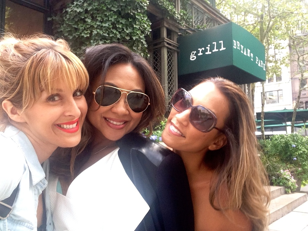 """Babes who Brunch- Bryant Park NYC""   What happens when 3 Makeup Artists/ Beauty besties meet up in NYC during fashion week???  Of course get together as much as possible and catch up over brunch!  Met up with my extraordinary amazing friends, Celebrity Makeup Artists:  Jessica Hoffman  &  Kecia Littman  in Bryant Park where Fashion Week started. Oh the memories and stories we can share!  I even got into Jessica's personal beauty bag for her favorite must have products!"