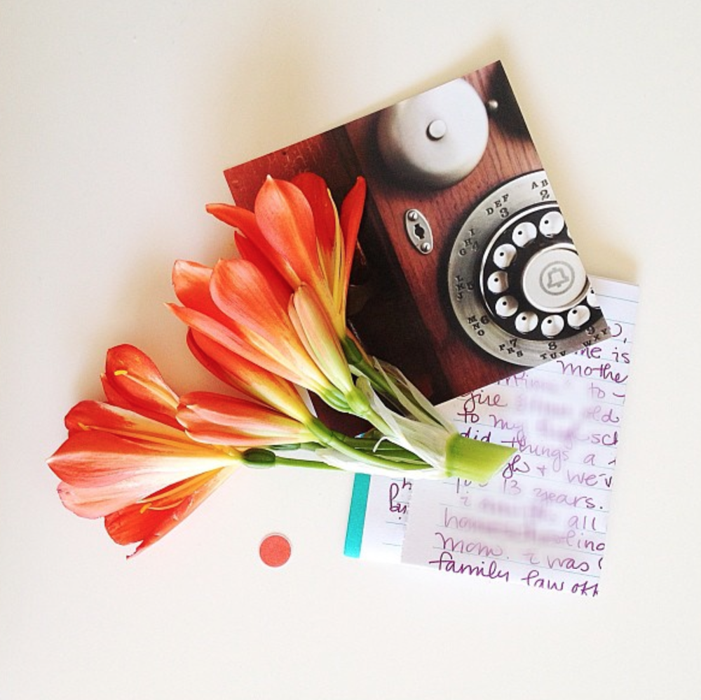 Photo Credit: Karina Sharpe via Instagram (@karina_jean_sharpe)  Karina was nice enough to hand out Origami postcards of her Instagram images at her workshop - I took this gorgeous image home and it hangs on my mood board.