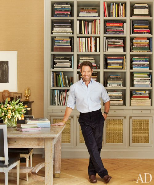 The amazing designer Nate Berkus in his beautifully styled dining room.