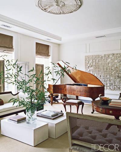 The stunning 19th Century grand piano.