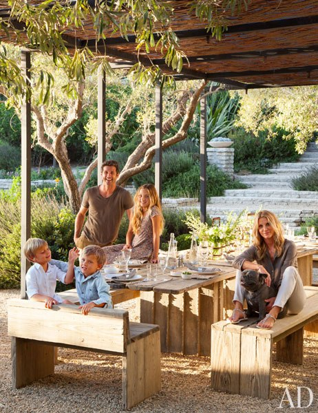 Patrick with wife Jillian, live in the home with their children -daughter Talula and sons Darby and Sullivan—and their French bulldog Horton.