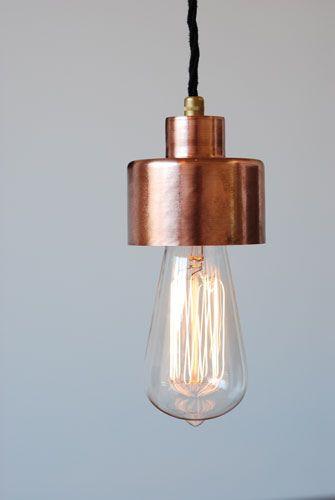 Beautiful exposed bulb pendant light.