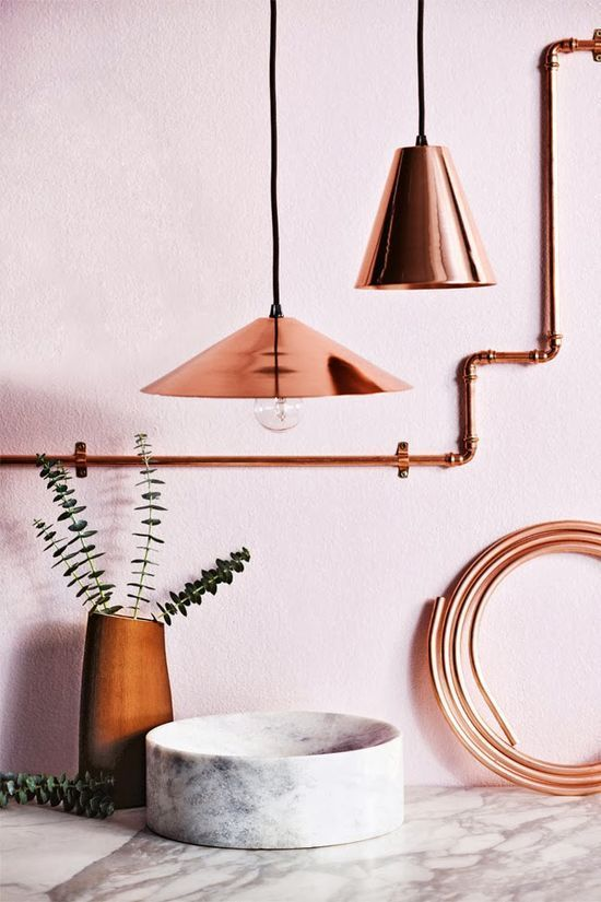 Marble & Copper - the perfect combination.