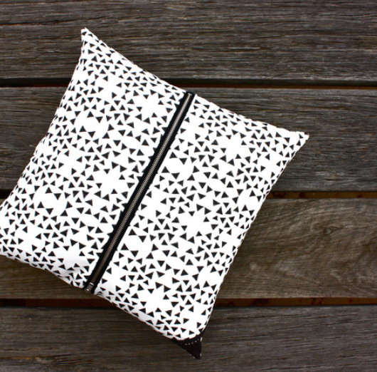 Black Triangle One Cushion is the perfect addition to any room. Shop it  here!