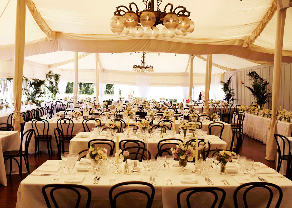 The dinner marquee décor.