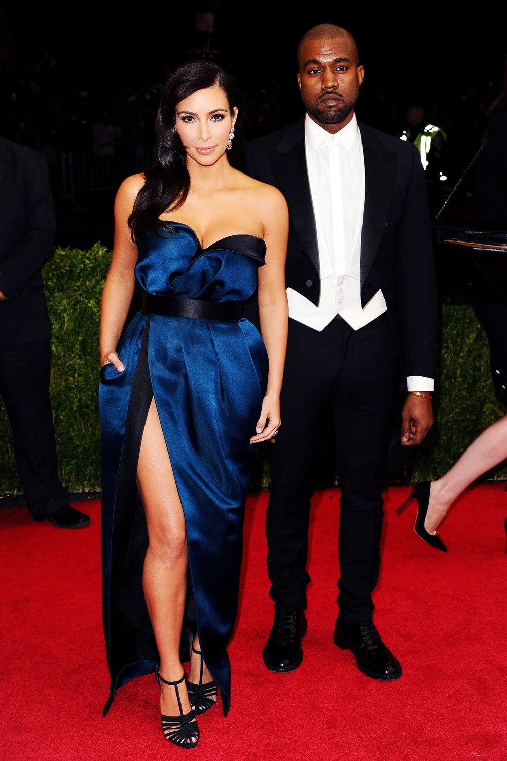 Kim Kardashian and Kanye West both wore Lanvin.