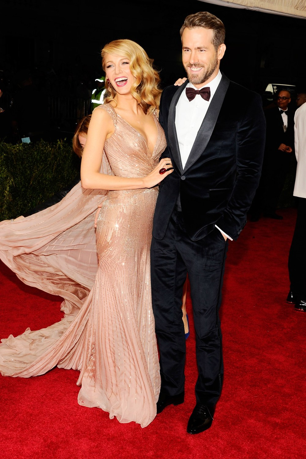 Blake Lively and Ryan Reynolds - both dressed by Gucci.