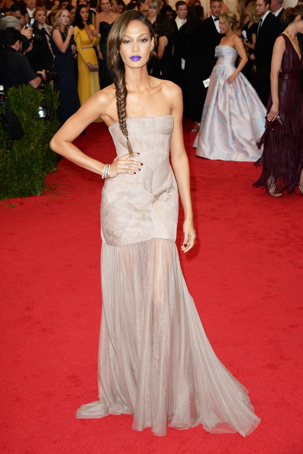 Joan Smalls wore a custom-made gown by Vera Wang.