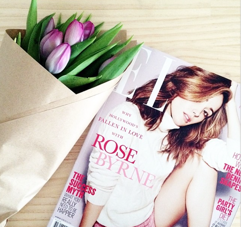 A lazy afternoon with Elle & fresh blooms. Image:  carmel_louise