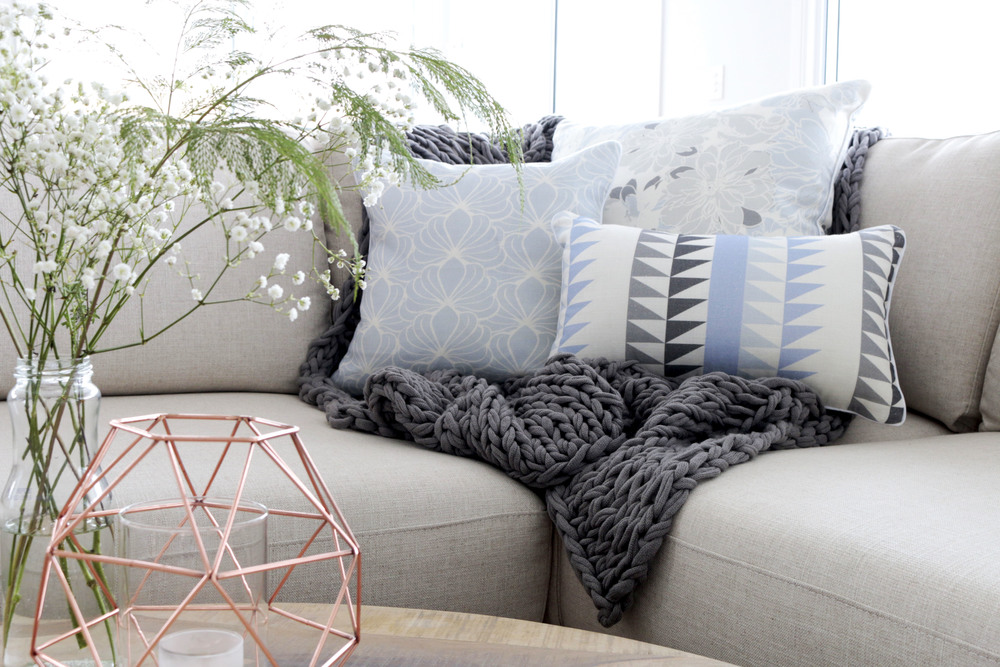 Product Photography & Styling   Cushions -  Lee & Allan Design   Throw -  Tailored Space   Private Residence - Casuarina, NSW