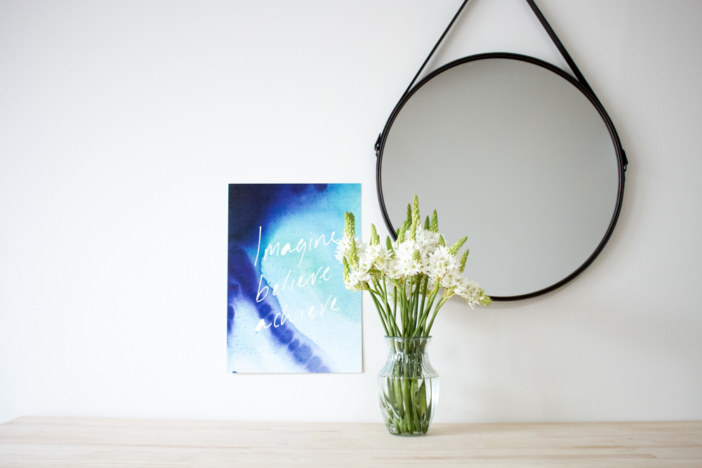 Product Photography & Styling    Artwork -  The Little Things Design   Mirror -  Kmart Australia