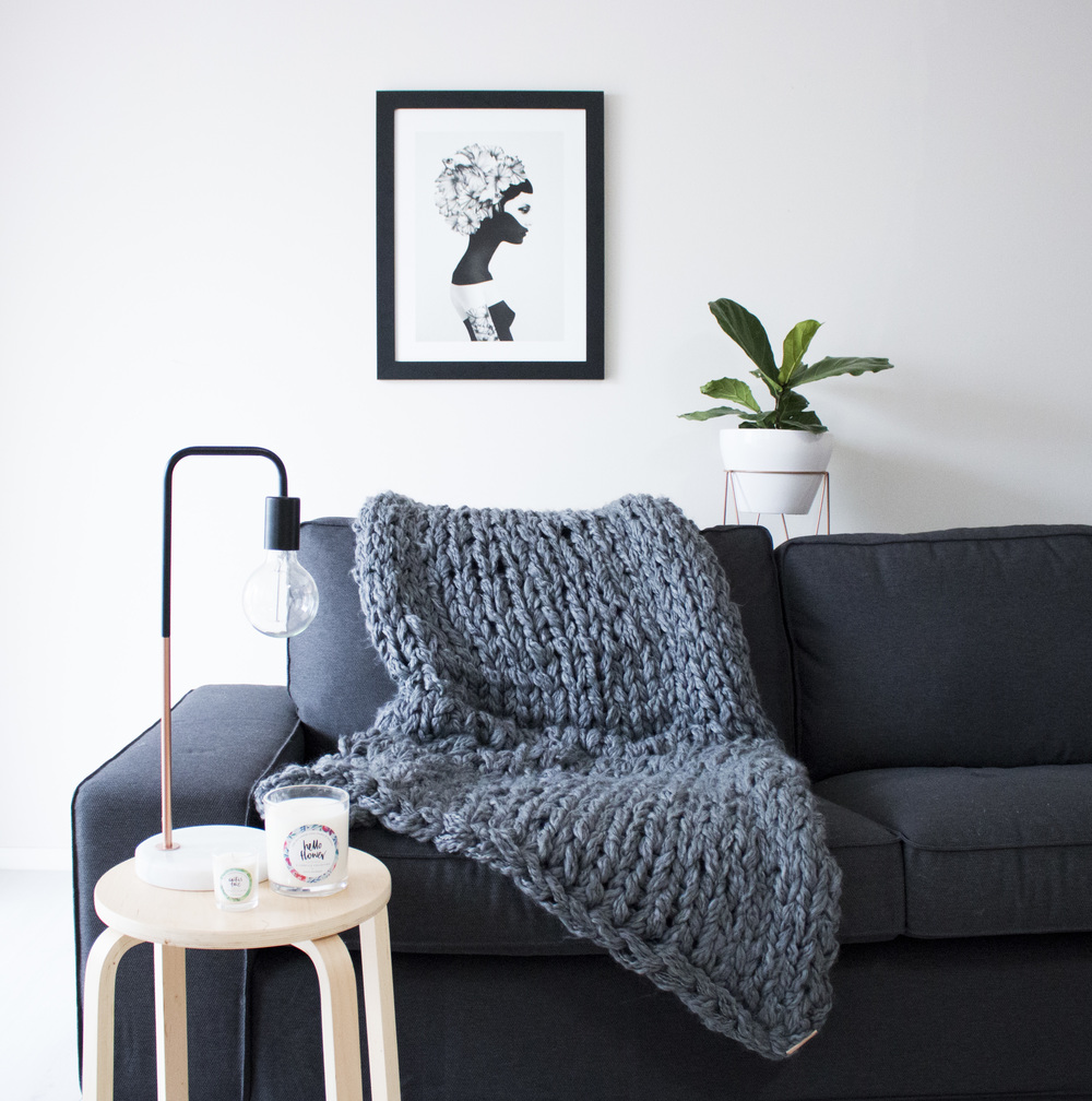 Product Photography & Styling Knit Throw -  Raquike  Candles -  Cocoday Dream