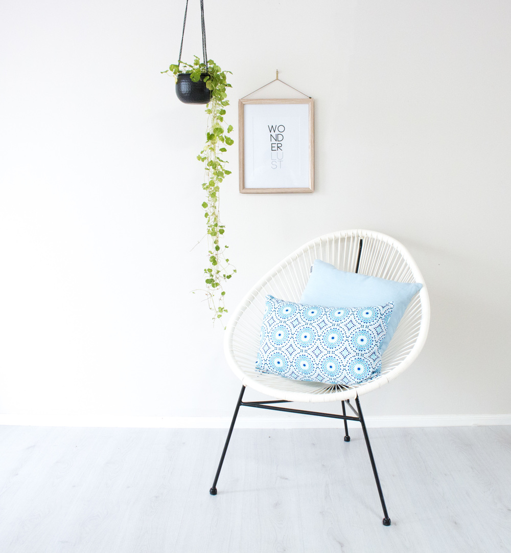 Product Photography & Styling    Cushions -   Raquike  Artwork -  Black Space Au  Hanging Planter -  Millie Archer Online