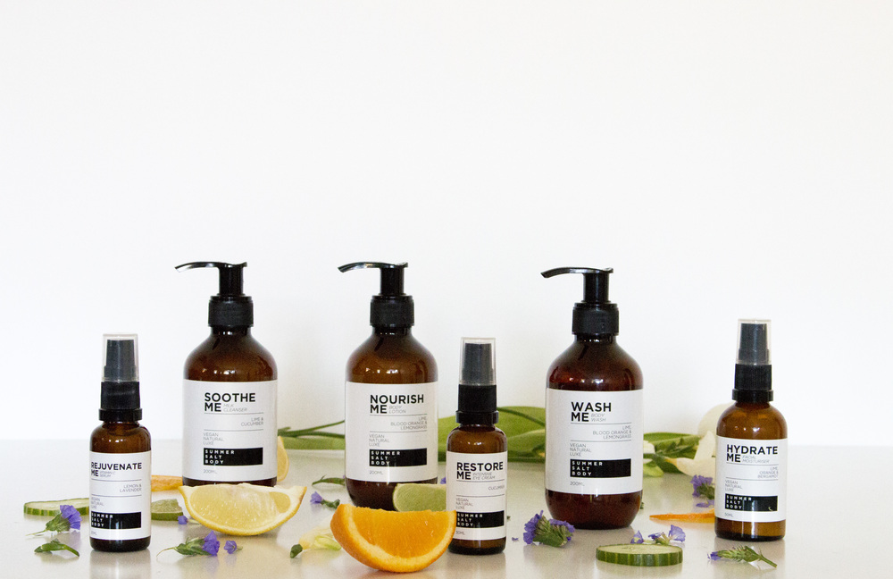 Product Photography & Styling Skincare - Summer Salt Body
