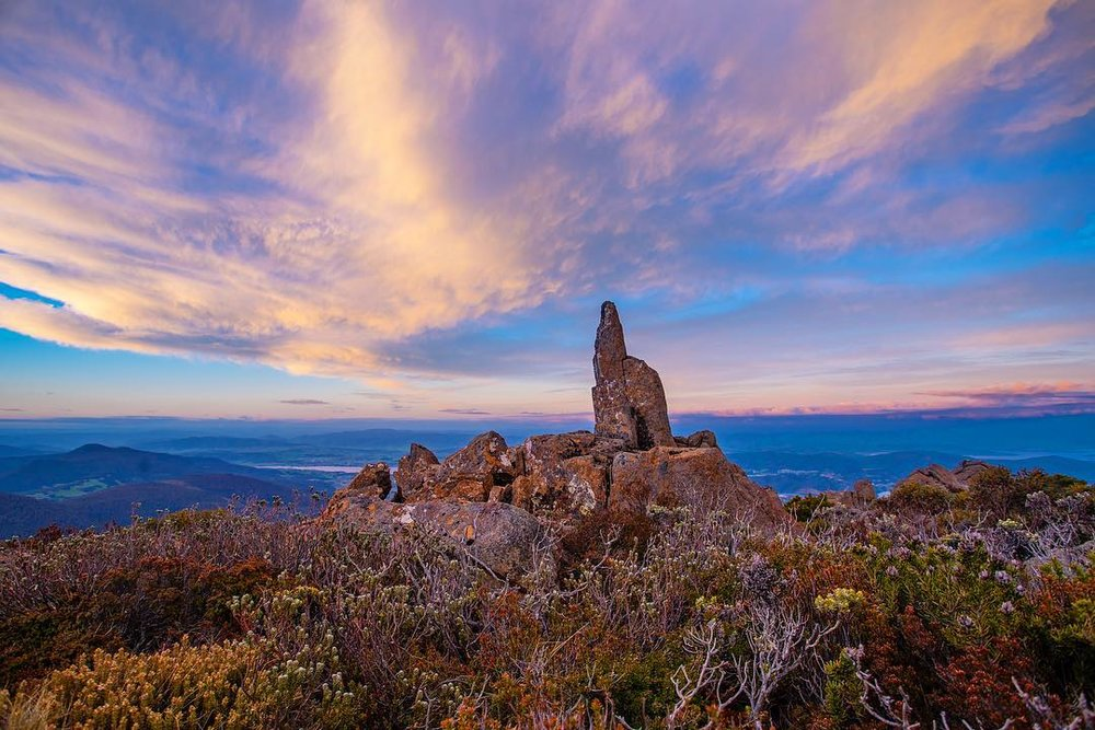 Sunset on the Mountain, Mt Wellington, Tasmania