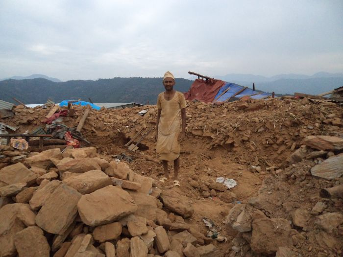The second earthquake destroyed those houses that were still standing after the first earthquake in Jyamdi village east of Kathmandu.