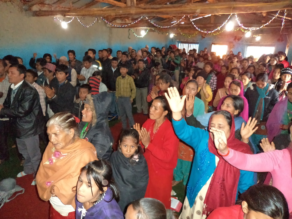 Dedication of Pastor Lila's church, which was built by the members themselves.