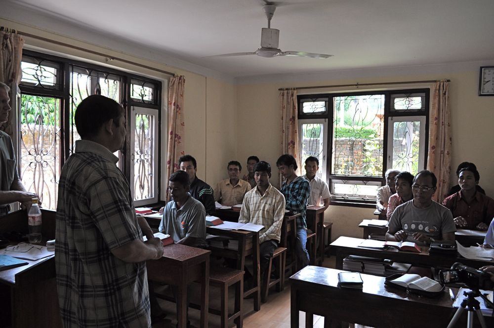 Pastors being trained at our Bible Training Center in Kathmandu