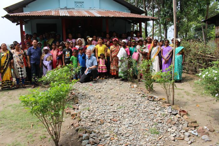 This is Pastor Philip's church. We held a one-day program for the women. All these women work in the local tea garden.