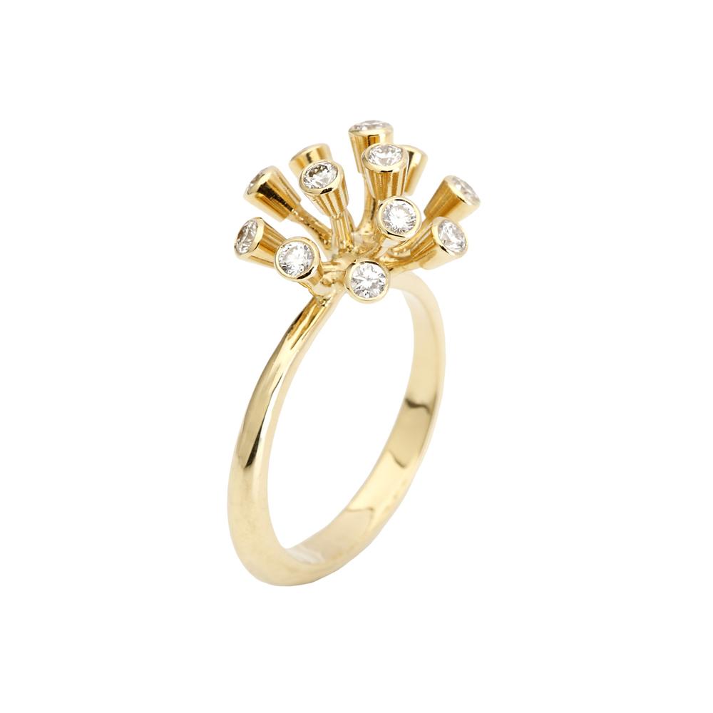 Geel Goud 18 Karaat met 11 diamanten