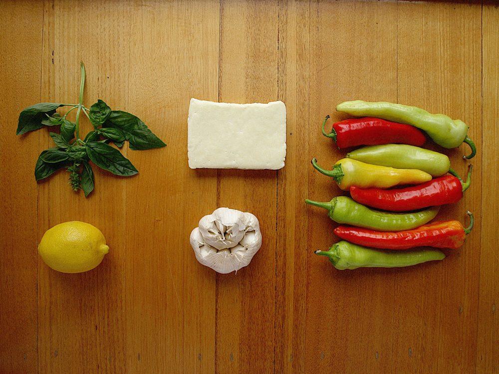 Stuffed capsicum ingredients