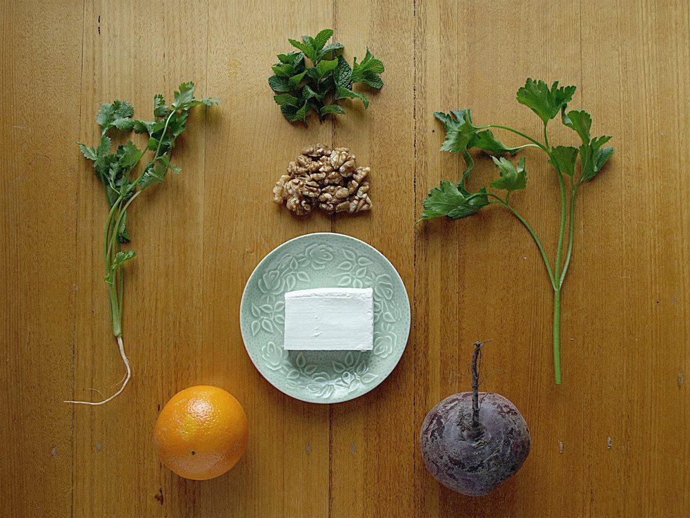 Beetroot Orange Salad Ingredients