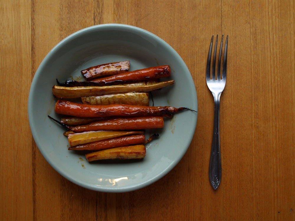 Caramelised Roast Parsnip and Carrot