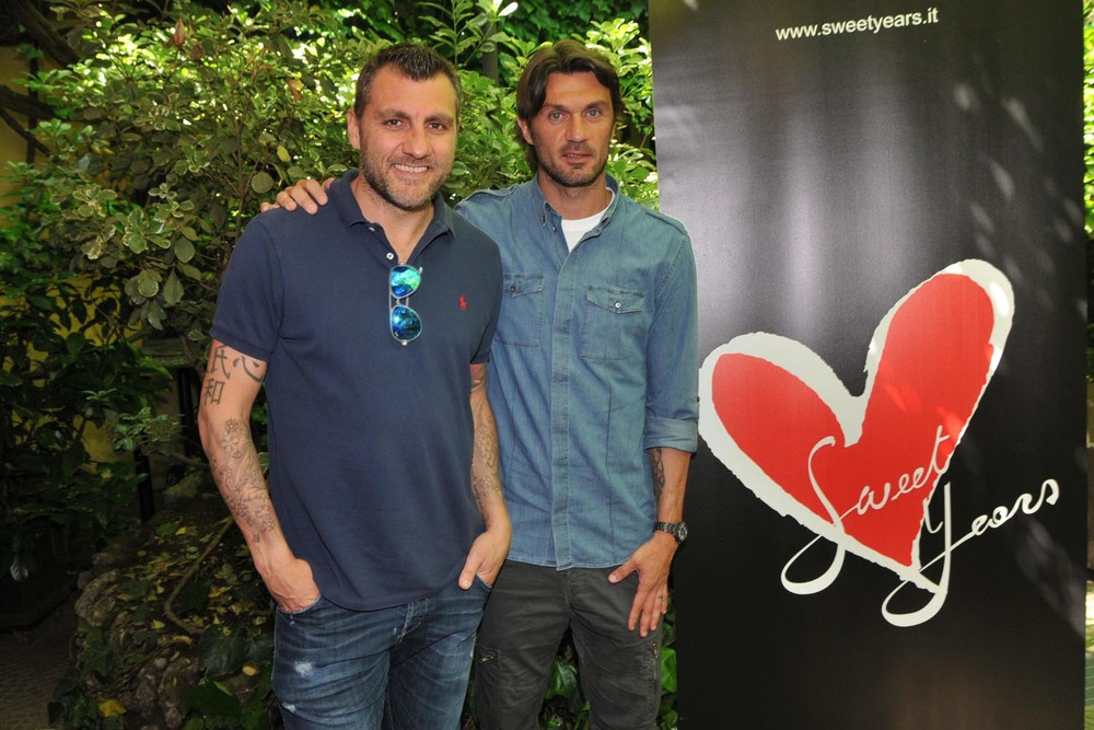 Christian Vieri and Paolo Maldini