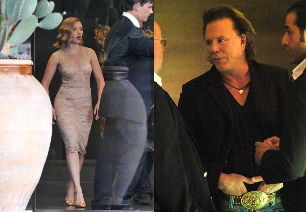 Scarlett Johansson - Mickey Rourke