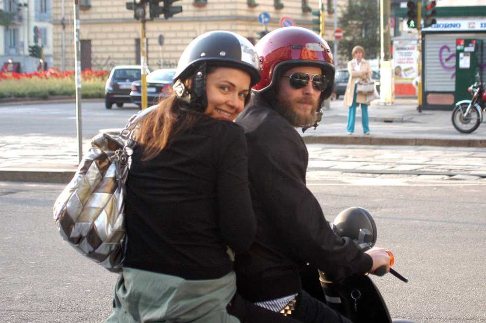 Jovanotti and wife