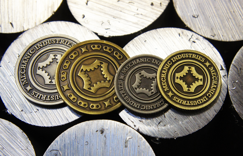 Grinder Coins 2 Sizes 2 Colours