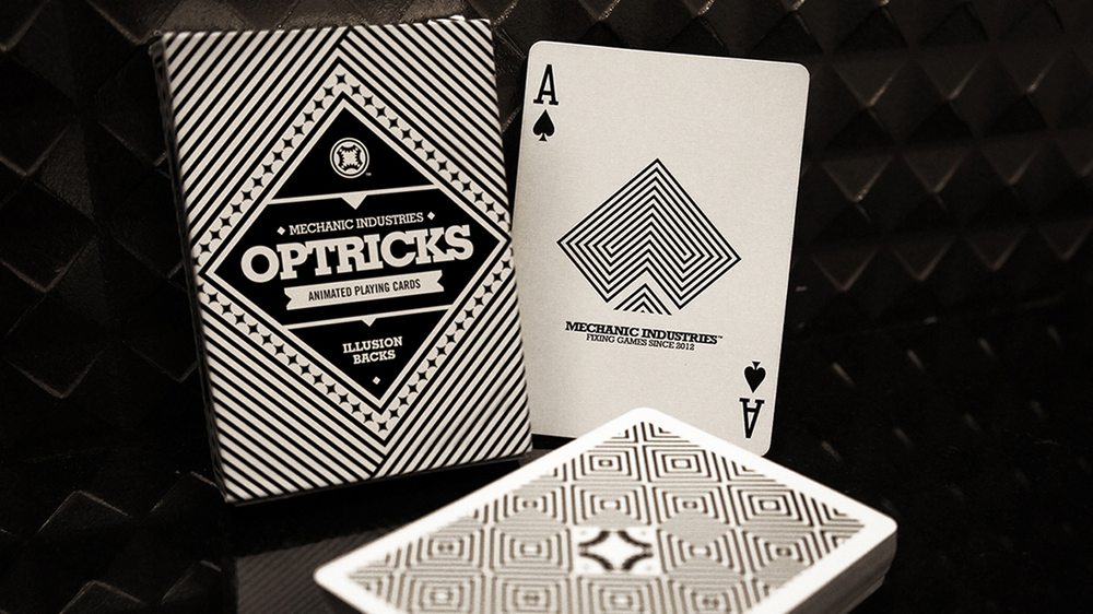 OPTRICKS DECK FLIP-BOOK ILLUSION BACKS VIEW DETAILS