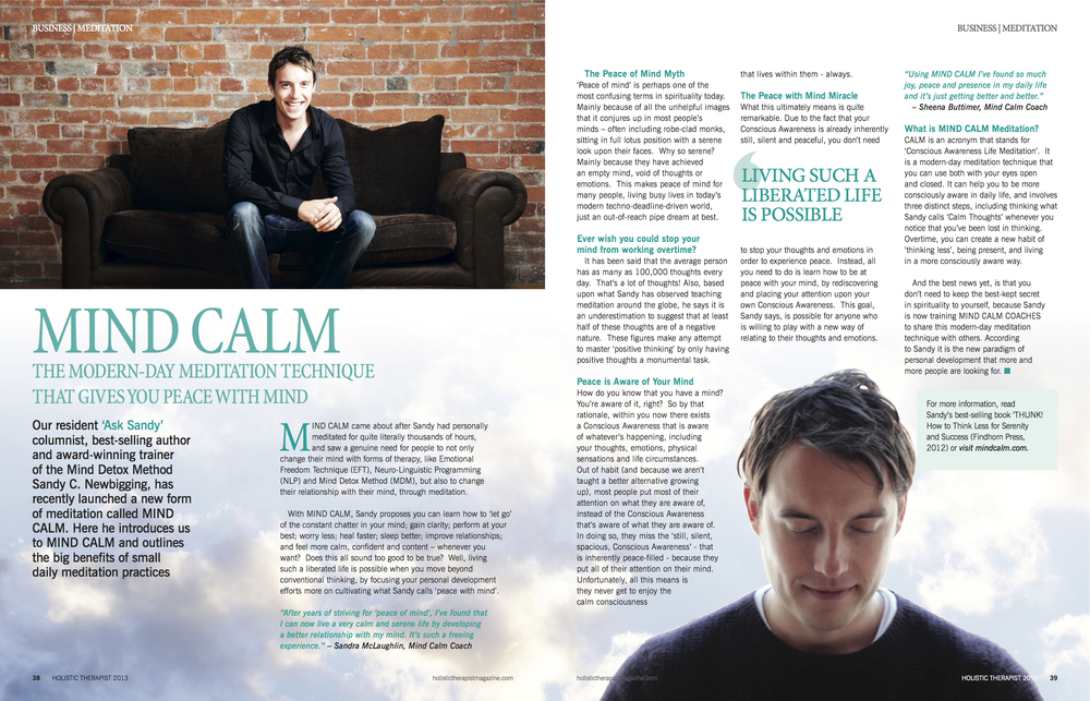 Mind Calm Article - Holistic Therapist Magazine 2013.jpg