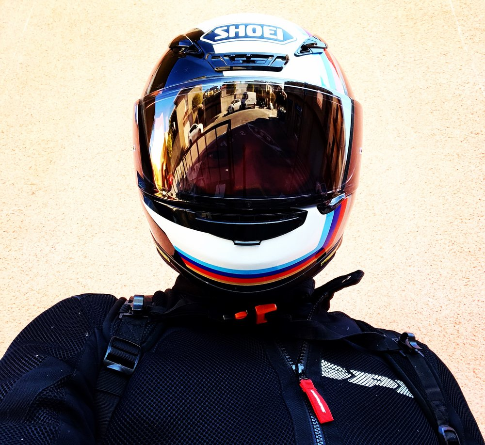Here's a quick selfie that I took when out on my ride today.