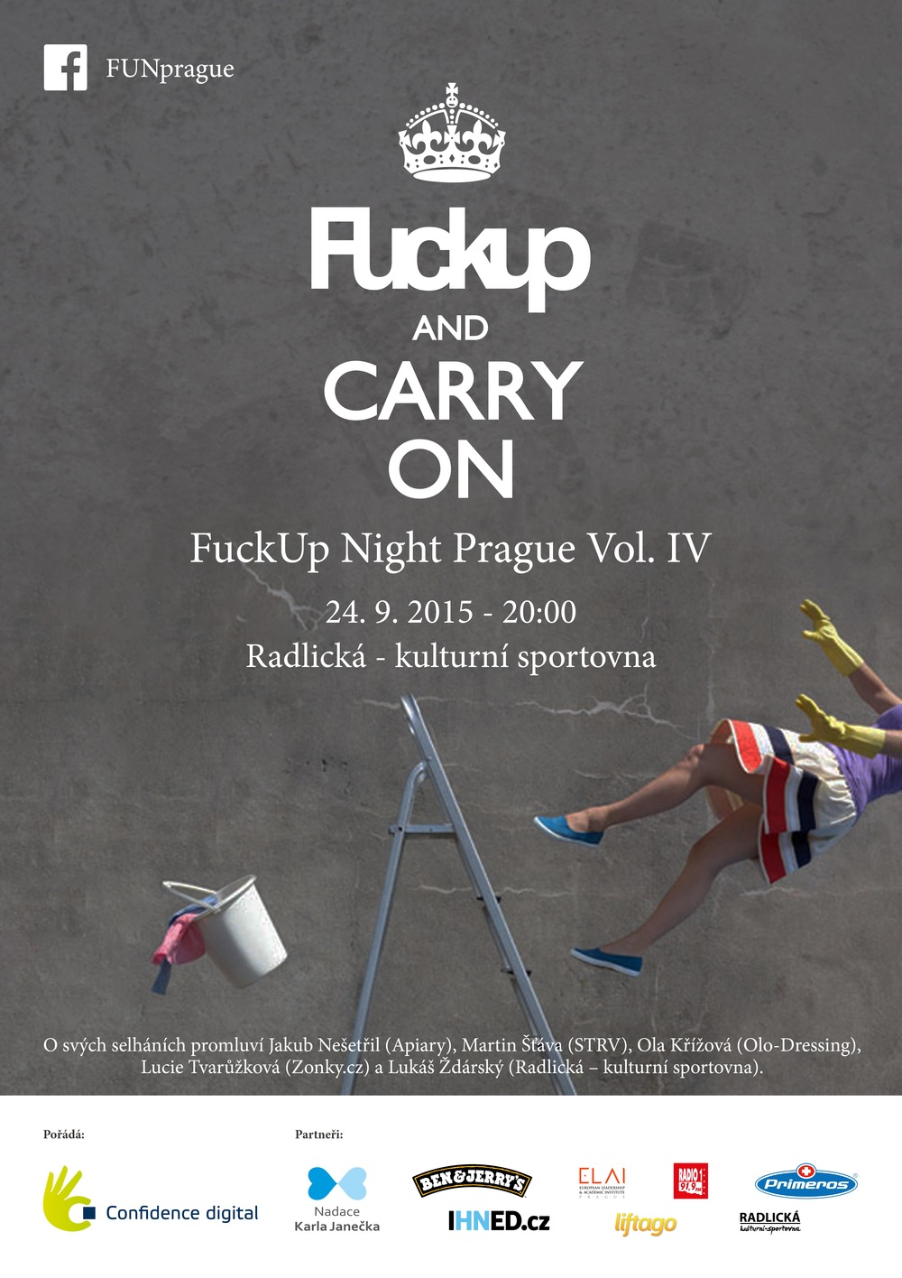 FuckUp Nights Prague Vol IV poster