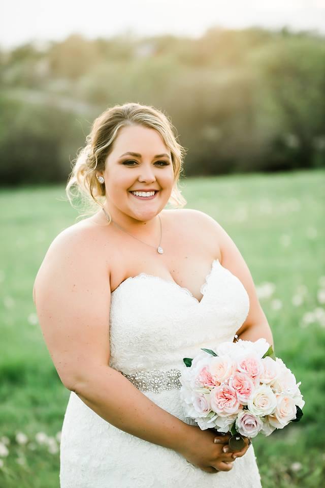 Look at this blushing bride everyone!