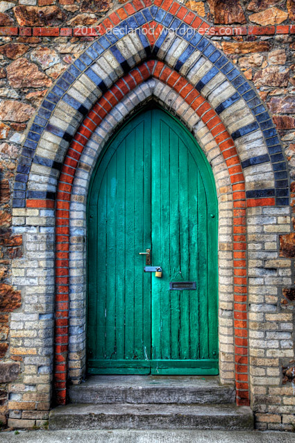 Green Doorway At Howth