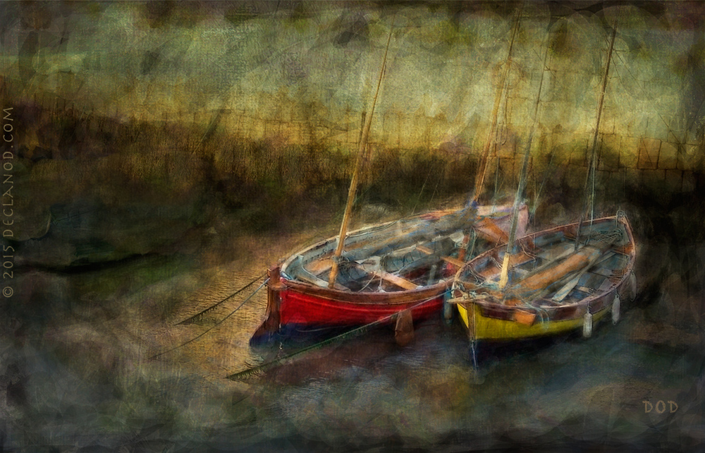 Dark Harbour - Digital Painting - March 2015. Click on Picture to Enlarge.