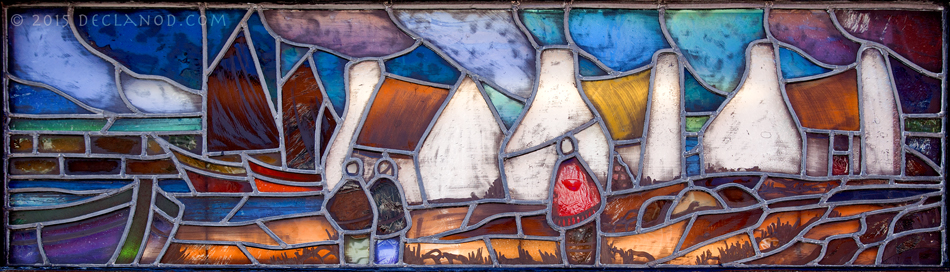 Irish Stained Glass Panel