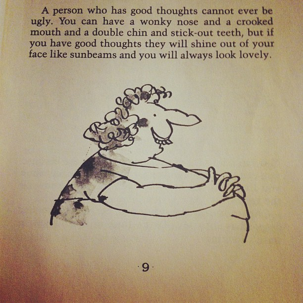 Beauty advice from The Twits by Roald Dahl.