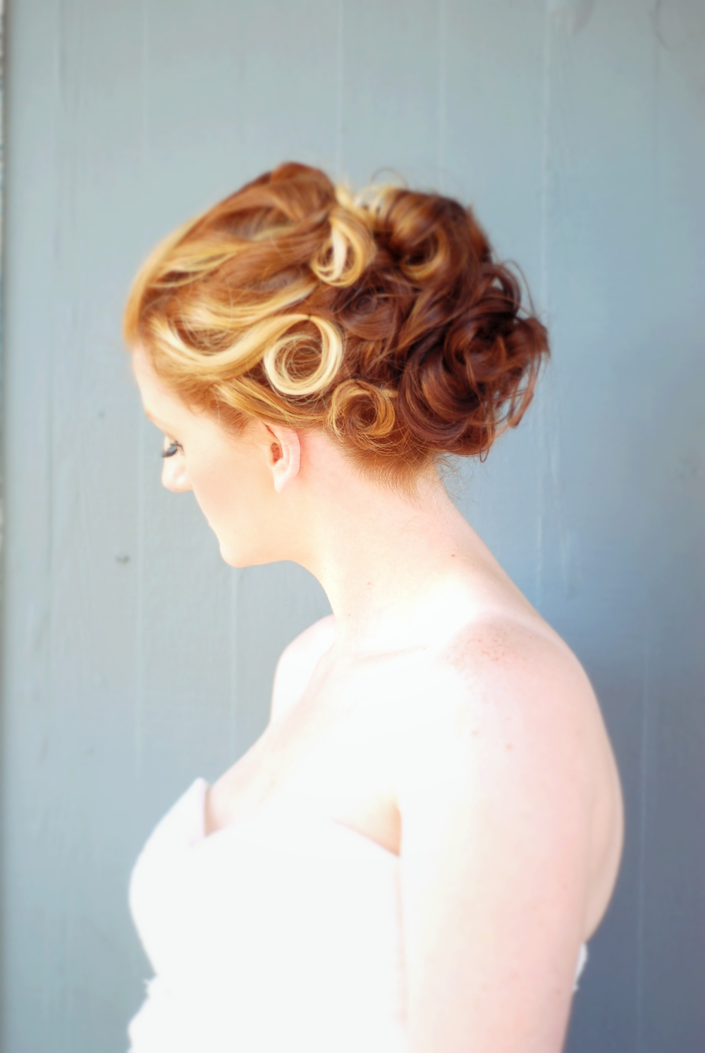 Hair Color: Mari Mabin Beardsley  Makeup: Mari Mabin Beardsley  Bridal Updo: Ashlee McKee