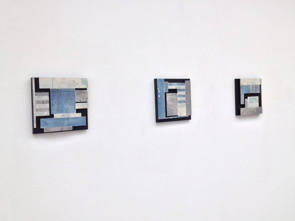 "Joshua Willis, ""Aquifer,"" Wood, Acrylic, 12""x 40"",  2014"