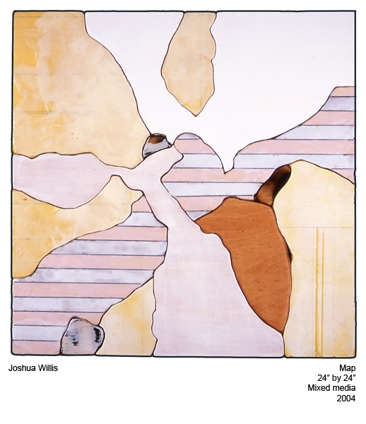 "Joshua Willis, ""Aerial Map,"" Mixed Media, 2004, Private Collection"