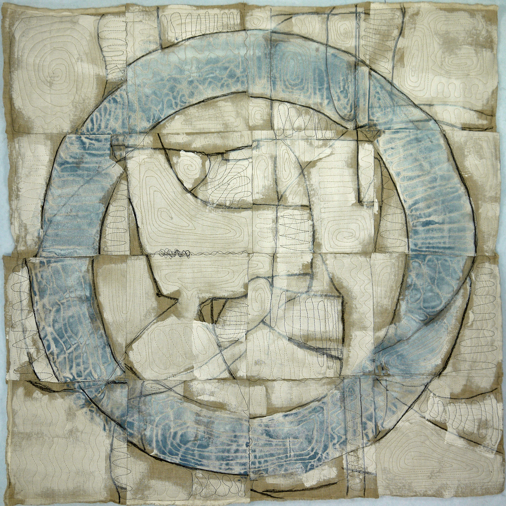 "Joshua Willis, ""Blue Circle,"" Mixed Media"