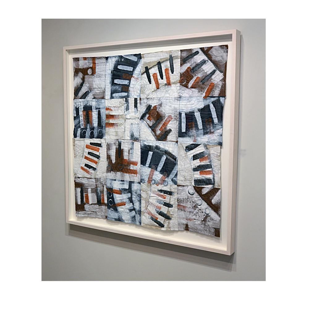 "J. Willis, ""Broken Circle (Red),"" Mixed Media, 40:x 40"", 2015"
