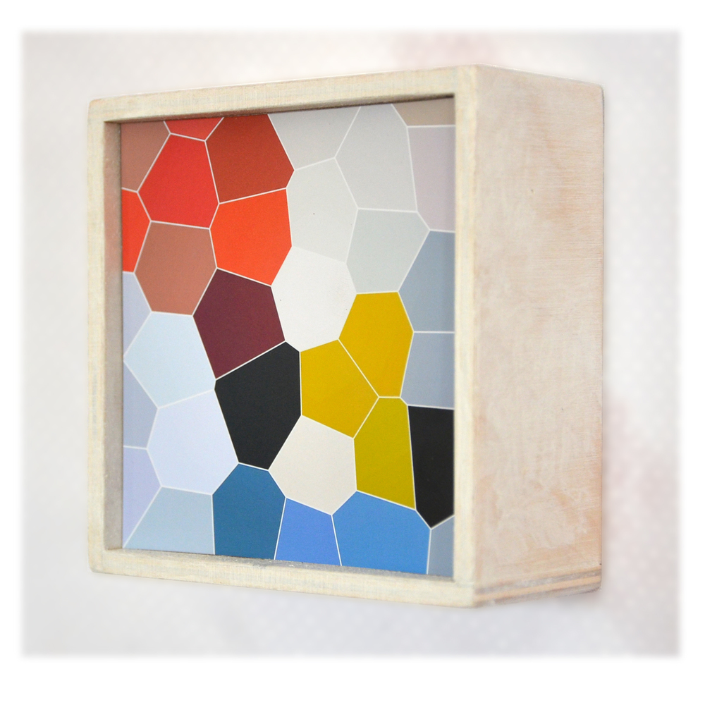 "J. Willis, ""Honeycomb,"" Mixed Media, 4""x4"", 2016"