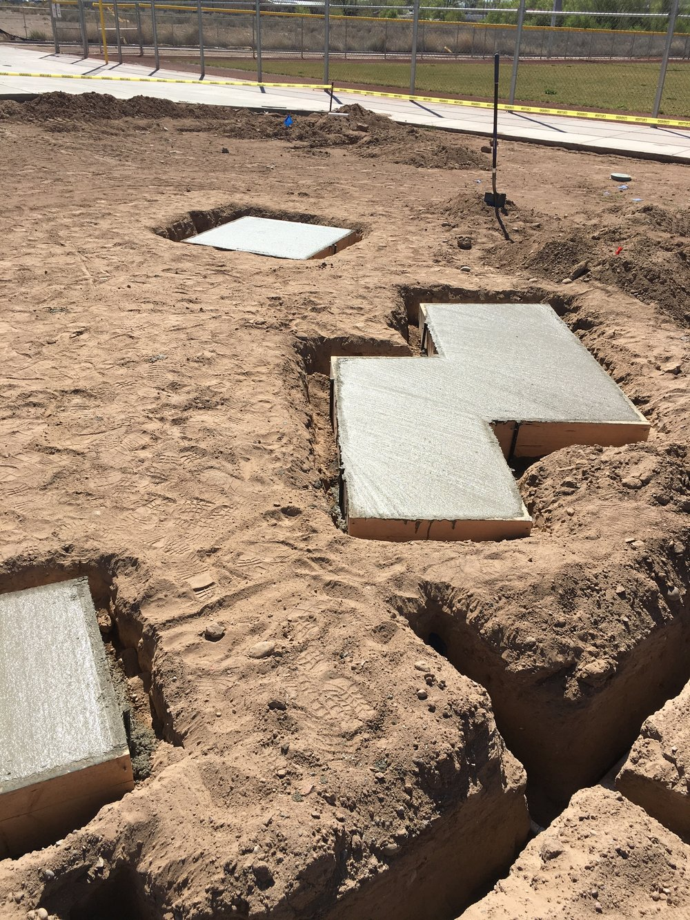 Concrete Pads, 2017, Bernalillo County Facility