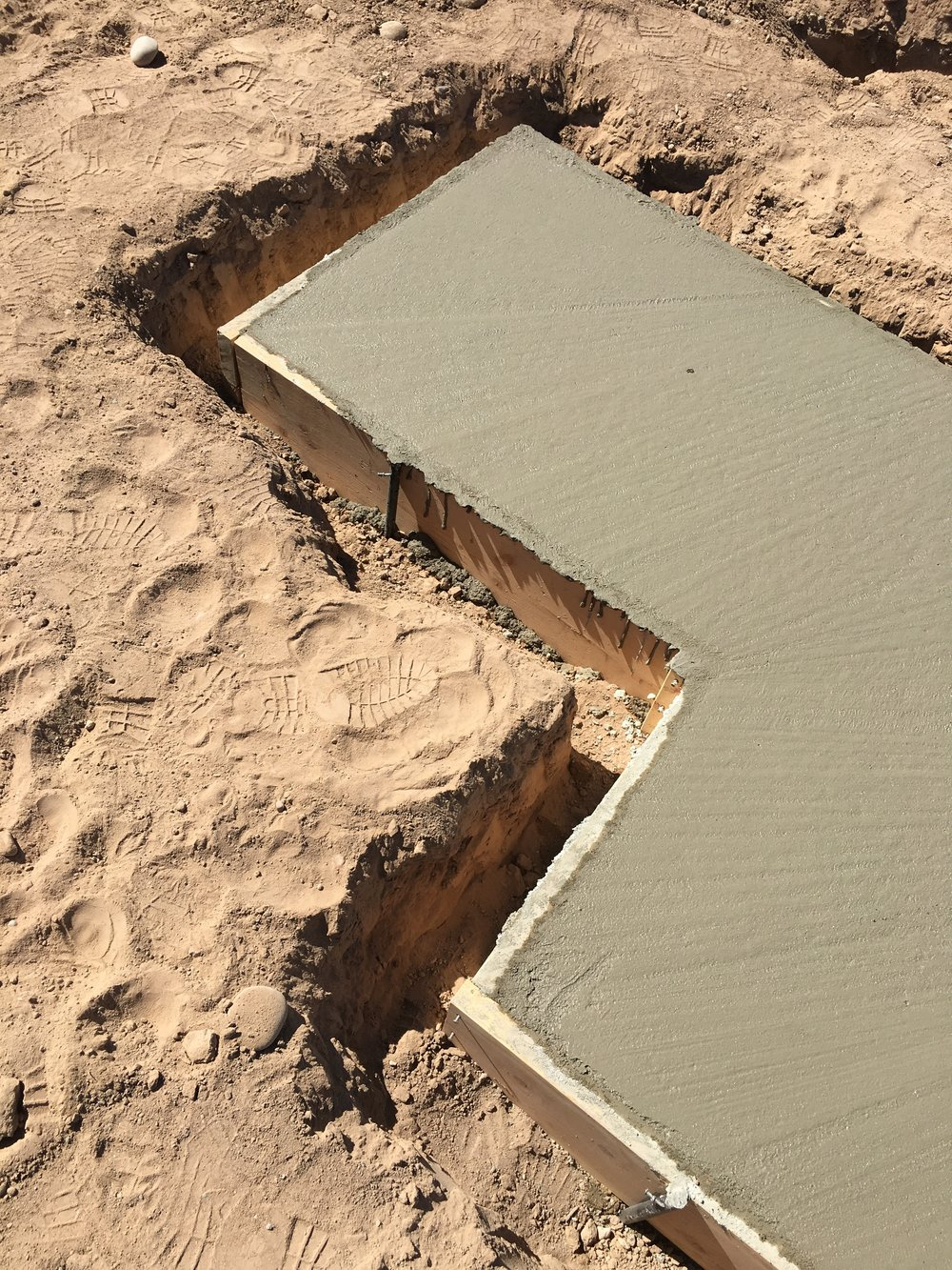 Concrete Pad, 2017, Bernalillo County Facility
