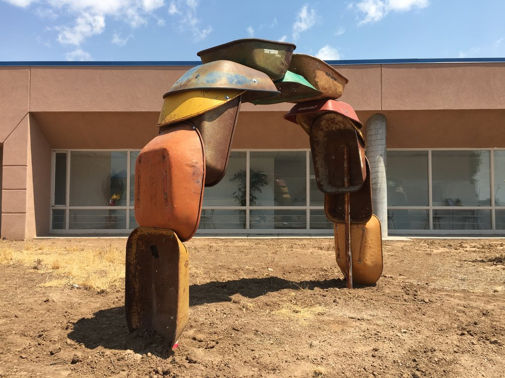 "Willis, Joshua, ""Barrowhenge,"" Commissioned by NM Arts, Part of T.I.M.E. (Temporary Installation Made for the Environment, Edgewood Public Library, 2017"